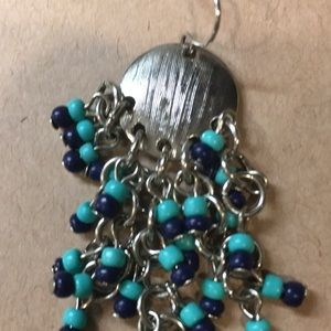 Jewelry - Dangle Navy and Turquoise Earrings